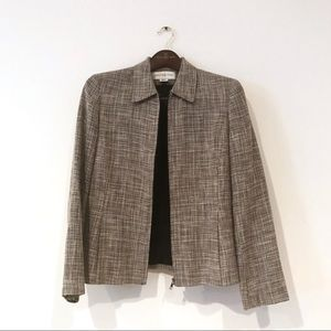 Vintage Woven Blazer with Zipper